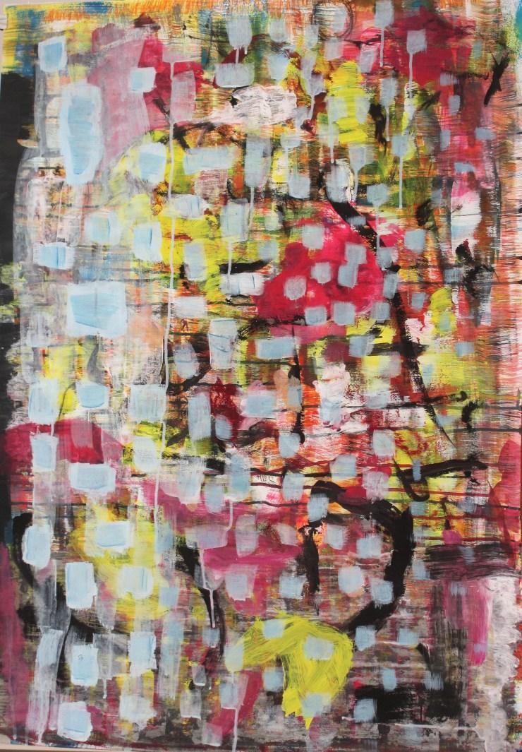 """""""Hidden truth"""". Gouache, acrylic on paper. 70 x 100 cm. 2014"""